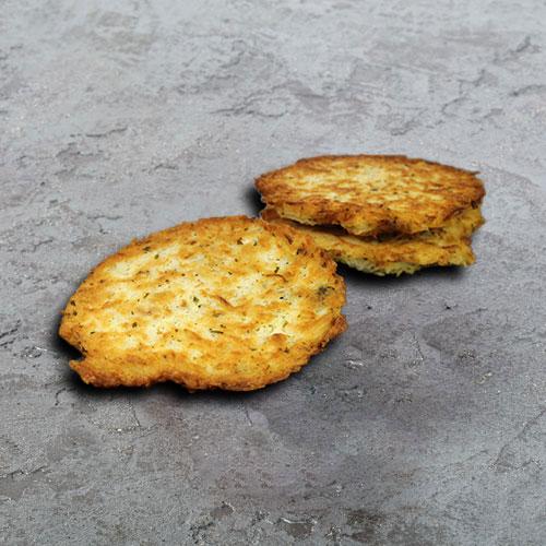 Galette de pomme de terre aux fromages et lardons - Maison Schmid Traiteur