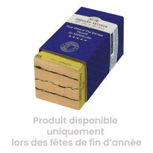 Foie gras d'oie entier truffé en millefeuille - Edouard Artzner